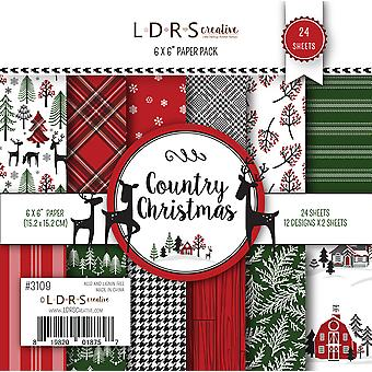 LDRS Creative Country Christmas 6x6 Inch Paper Pack