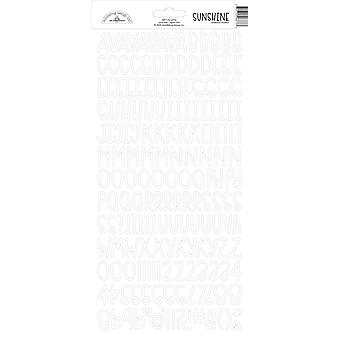 Doodlebug Design Lily Valkoinen Auringonpaiste Tarrat
