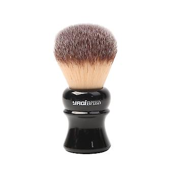 Black Handle Yellow Synthetic Hair Knot Wet Shaving Brush
