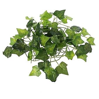 Artificial Plants, Vine Leaves For Reptile Terrarium Decoration, Climb And Rest
