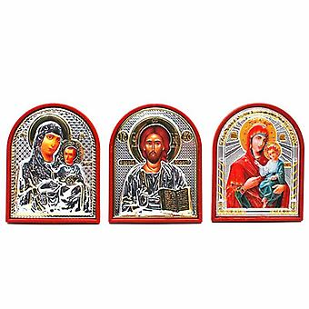 Church Lord Jesus/virgin Mary Orthodox Icon