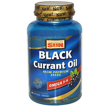 Health From The Sun, Black Currant Oil, 1,000 mg, 60 Softgels