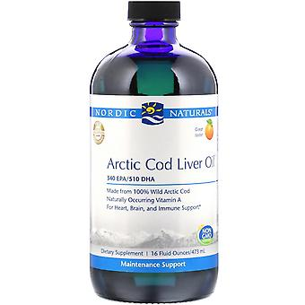 Nordic Naturals, Huile de foie de morue arctique, Orange , 16 fl oz (473 ml)