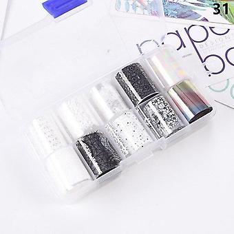 nail art overføring folie klistremerke - ab papir wraps klebende dekaler