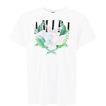 Amiri F0m03239cjwht Men's White Cotton T-shirt
