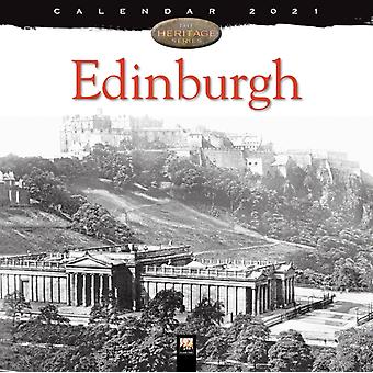Edinburgh Heritage Wall Calendar 2021 Art Calendar door Gemaakt door Flame Tree Studio