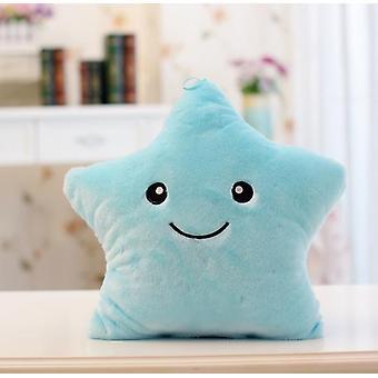 1pc 40cm צבעוני כוכב צורה צעצועים- כוכב זוהר הוביל זוהר כרית אור רך להירגע מתנה חיוך כרית גוף ילדים אהוב מתנות