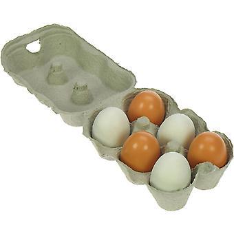 Bigjigs puiset lelut kuusi puinen munat