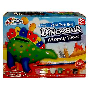 Grafix verf je eigen spaarpot dinosaurus