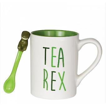 Tea-Rex Mug with Sculpted Spoon Set