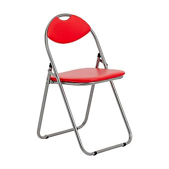 Red Padded Folding Desk Chair - Home Office, Events