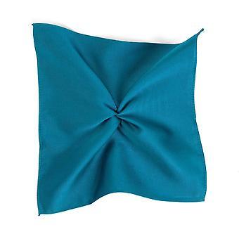 Solmiot Planet Plain Teal Green Silk Pocket Square Handkerchief By Tresanti