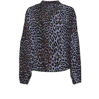 b.young Flaminia Leopard Print Bluse