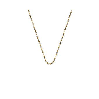"""Emozioni 30"""" Sterling Silver Yellow Gold Bead Chain CH047 Emozioni 30 """" Sterling Silver Yellow Gold Bead Chain CH047"""