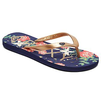 Roxy Tahiti Flip Flops - Navy