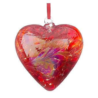 8cm Friendship Heart - Red - Unique Gift and Hanging Decoration