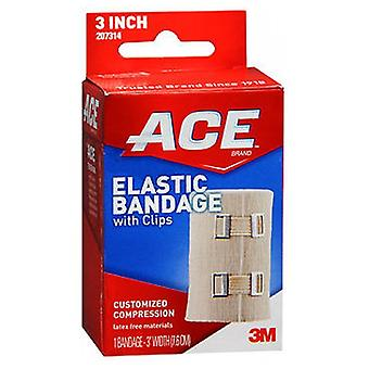 Ace Elastic Bandage With Clips, 3 inches 1 each