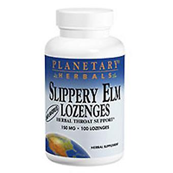 Planetary Herbals Slippery Elm Lozenge, Unflavored 24 lozenges