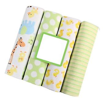4pcs Pasgeboren Baby Bed Lake Bedding Set-for Newborn Crib Sheets Latten 100%