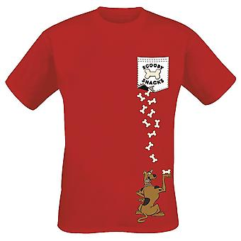 Scooby Doo Adults Unisex Adults Scooby Pocket T-Shirt
