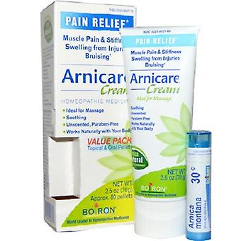 Boiron Arnicare Cream Homeopathic Medicine Value Pack