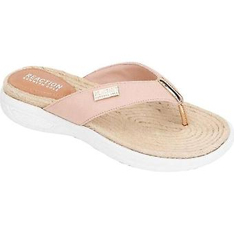 Kenneth Cole Reactie Womens Ready Thong Fabric Open Toe Casual
