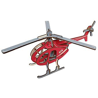 Kehitä lasten älykkyyttä Puinen 36-osainen 3D-palapeli - Helikopteri