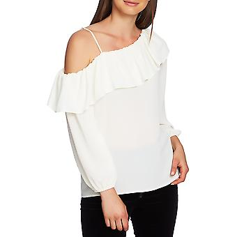 1.State | One Shoulder Ruffled Pullover Top