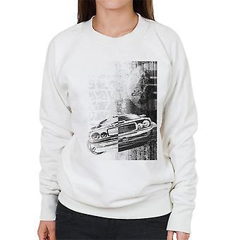 Nopea ja raivoisa Dodge Charger Lähikuva Naiset's Collegepaita