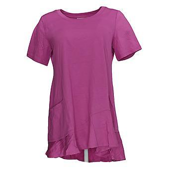 LOGO Par Lori Goldstein Women-apos;s Top Knit W/ Asym A306613