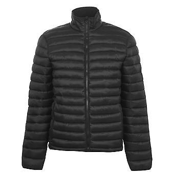 SoulCal Mens Micro Bubble Jacket Full Zip Long Sleeve 2 Pockets Top