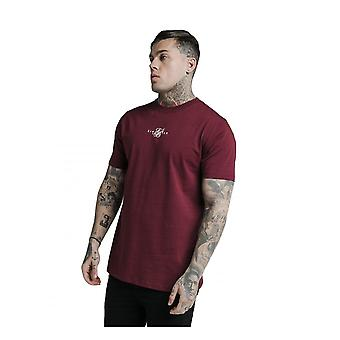 Sik Silk Siksilk Basic Core Tee Shirt Burgundy
