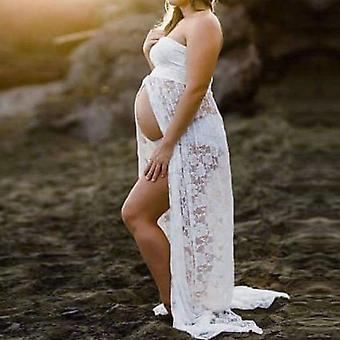 Props Maxi Maternity Gown Lace/dress Fancy Shooting Photo, Pregnant Dress Plus