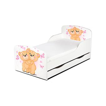 PriceRightHome Teddy Bear Hug Cama para niños con almacenamiento debajo de la cama más
