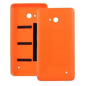 متجمد سطح البلاستيك الغطاء السكني الخلفي لمايكروسوفت Lumia 640 (البرتقالي)
