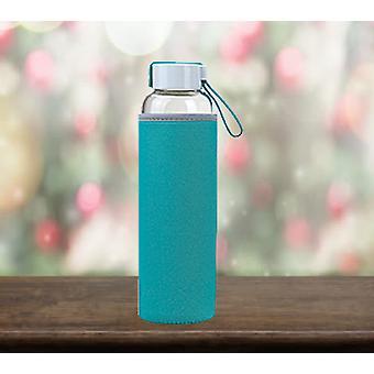 Summit MyBento 550ml Botella Eco de Vidrio con Cubierta de Neopreno - Botella MINT de 1 Unidad