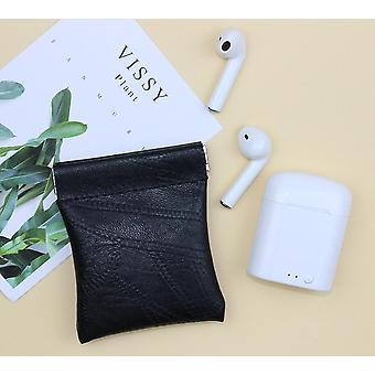 Leather Coin Purse Mini Short Wallet Bag