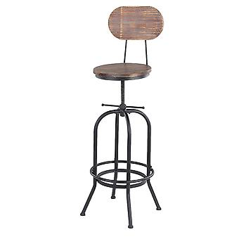 Cadeira de jantar de cozinha giratória ajustável Pinewood Top Metal com barra de encosto
