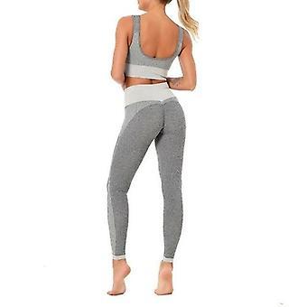 Yoga Set Sport Bh och Leggings Jogging Kvinnor Gym Som Kläder