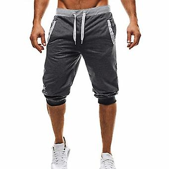 Sommer Knie Länge Shorts Farbe Patchwork Jogger Sweatpants Hose