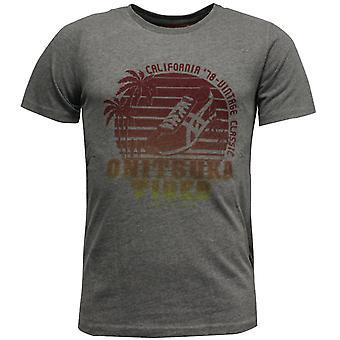Onitsuka Tiger Mens Casual T-Shirt Short Sleeve Grey Tee Top 109800 0773 A9C