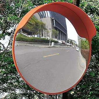 حركة المرور مرآة محدبة PC بلاستيك برتقالي 45 سم في الهواء الطلق