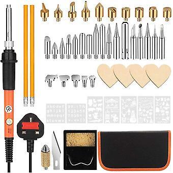 Soldering Iron Kit, 50Pcs Wood Burning Pyrography Pen Kit, 60W/220V Adjustable Temperature