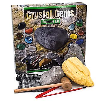 Kandytoys dig out crystal gems kit with bag