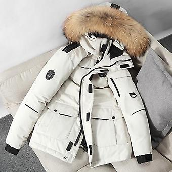 Men Workwear New Style Young Puffer Jacket Short Thicken Outdoor Winter Warm