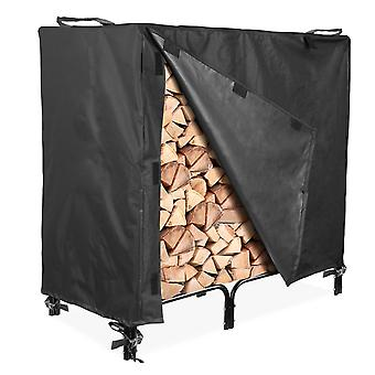 "Outdoor Firewood Log Rack Cover - 48""L x 24""W x 42""H - UV Protected, and Weather Resistant Storage Cover - Black"