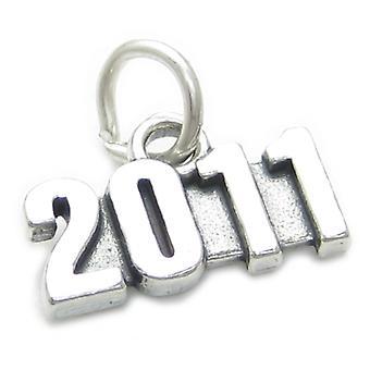 2011 Year Sterling Silver Charm .925 X 1 Wedding Birthday Graduation - 4006