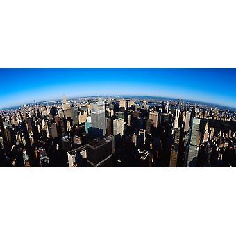 Luchtfoto van een stad New York City New York State VS Poster Print