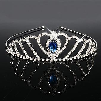 Blå Prinsesse Tiaras-kroner, Pannebånd, Brude Skoleball Brud, Brudepike, Bryllup