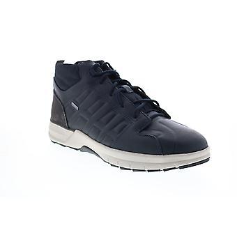Geox U Keelback B Abx  Mens Blue Leather Euro Sneakers Shoes